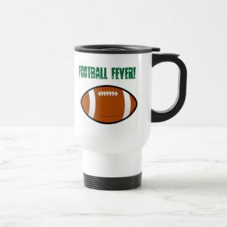 Green Football Design 15 Oz Stainless Steel Travel Mug