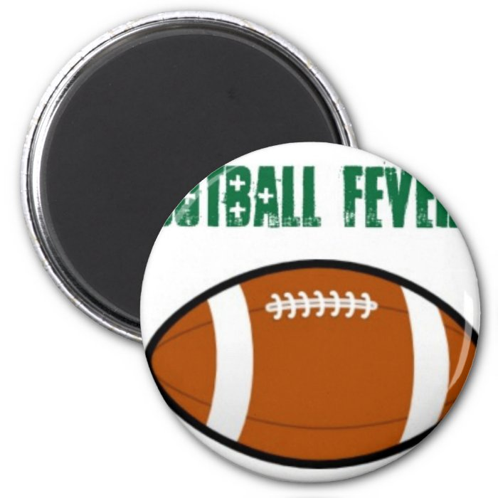 Green Football Design 2 Inch Round Magnet