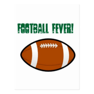 Green Football Design Postcard