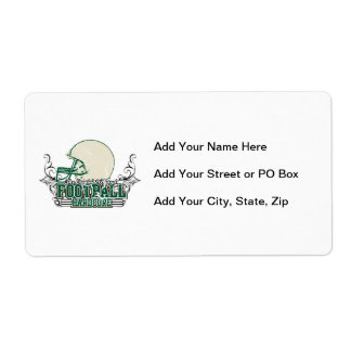 Green Football Hardcore T-shirts and Gifts Personalized Shipping Labels