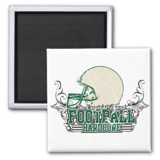Green Football Hardcore T-shirts and Gifts Magnet