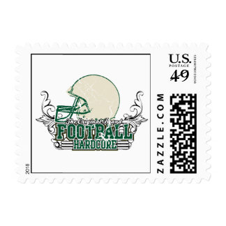 Green Football Hardcore T-shirts and Gifts Stamps