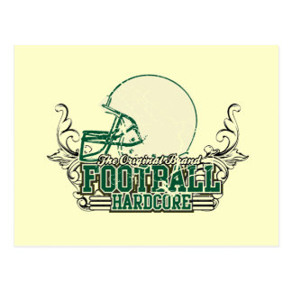Green Football Hardcore T-shirts and Gifts Postcard