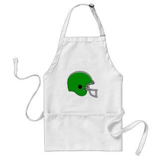 Green Football Helmet Adult Apron