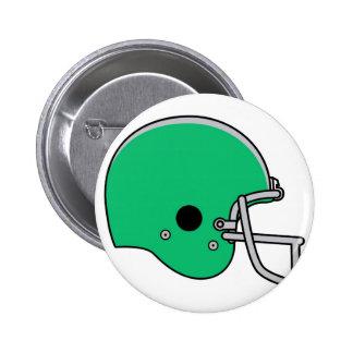 Green football helmet pinback button
