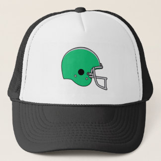 Green football helmet trucker hat