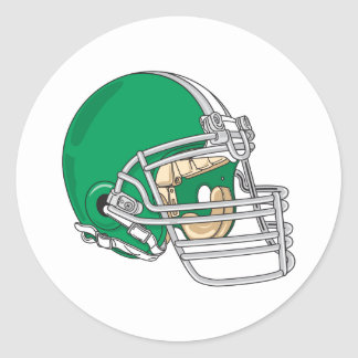 green football helmet vector classic round sticker