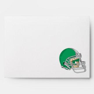 green football helmet vector envelope