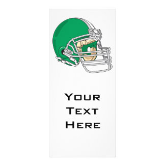 green football helmet vector rack card
