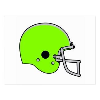 green football logo postcard