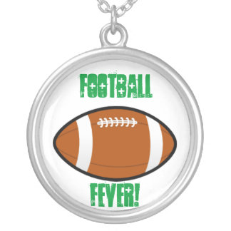 Green Football Necklaces