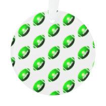 Green Football Pattern Ornament