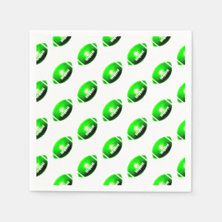 Green Football Pattern Disposable Napkins