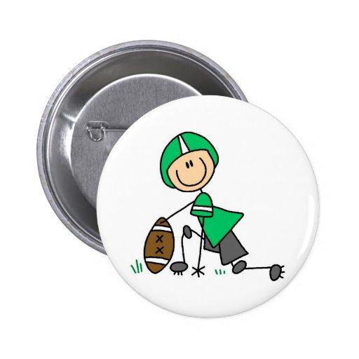Green Football Player Button