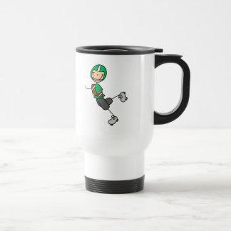 Green Football Player Mug