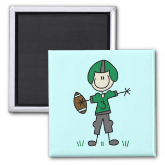 Green Football Player  T-shirts and Gifts Magnet