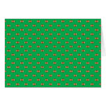 Green Football Polka Dots Greeting Cards