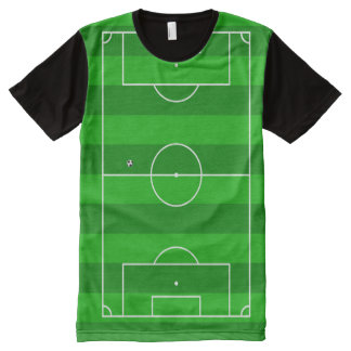 Green Football Soccer Pitch All-Over-Print T-Shirt