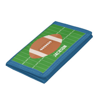 Green Football Sports Themed Trifold Wallets