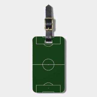 green football stadium luggage tag