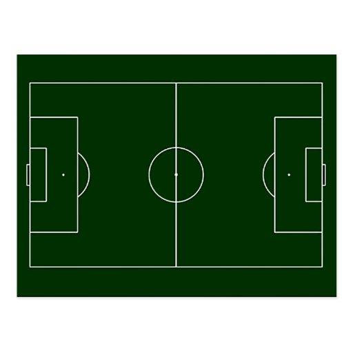 green football stadium post cards