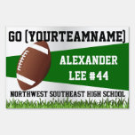 Green Football Yard Sign, Custom Name/School