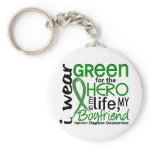 Green For Hero 2 Boyfriend Kidney Disease Keychain