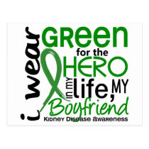 Green For Hero 2 Boyfriend Kidney Disease Postcard