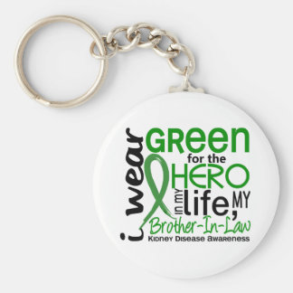 Green For Hero 2 Brother-In-Law Kidney Disease Keychain