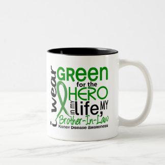 Green For Hero 2 Brother-In-Law Kidney Disease Two-Tone Coffee Mug
