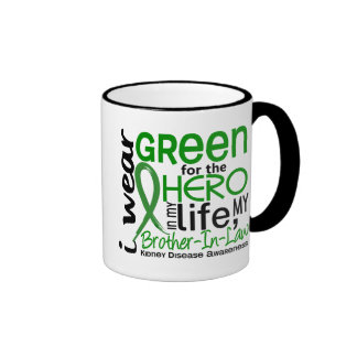 Green For Hero 2 Brother-In-Law Kidney Disease Ringer Coffee Mug
