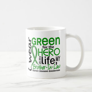 Green For Hero 2 Brother-In-Law Kidney Disease Classic White Coffee Mug