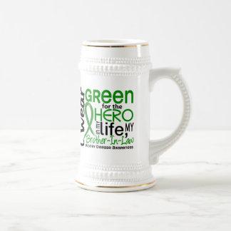 Green For Hero 2 Brother-In-Law Kidney Disease 18 Oz Beer Stein