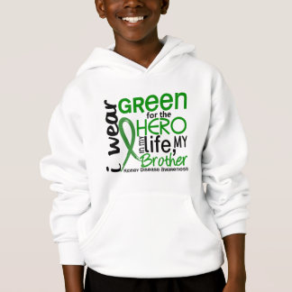 Green For Hero 2 Brother Kidney Disease Hoodie