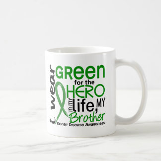 Green For Hero 2 Brother Kidney Disease Classic White Coffee Mug
