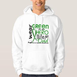 Green For Hero 2 Dad Kidney Disease Hoodie