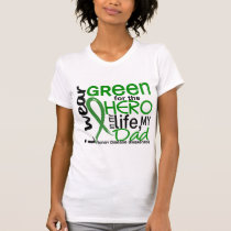 Green For Hero 2 Dad Kidney Disease T-Shirt