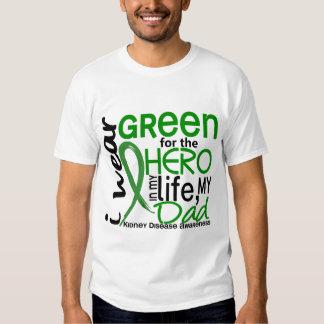 Green For Hero 2 Dad Kidney Disease Tee Shirt