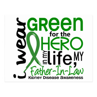 Green For Hero 2 Father-In-Law Kidney Disease Postcard