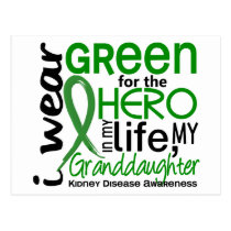 Green For Hero 2 Granddaughter Kidney Disease Postcard