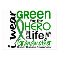 Green For Hero 2 Grandmother Kidney Disease Postcard