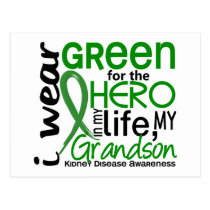 Green For Hero 2 Grandson Kidney Disease Postcard