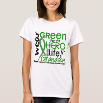 Green For Hero 2 Grandson Kidney Disease T-Shirt