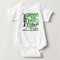 Green For Hero 2 Mom Kidney Disease Baby Bodysuit