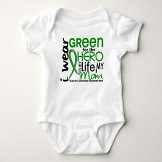 Green For Hero 2 Mom Kidney Disease Baby Bodysuit