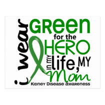Green For Hero 2 Mom Kidney Disease Postcard