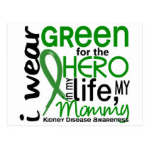 Green For Hero 2 Mommy Kidney Disease Postcard