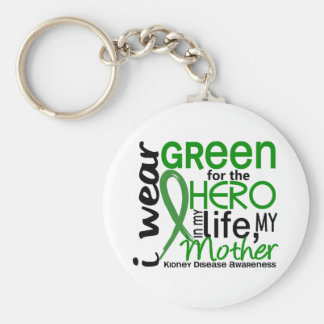 Green For Hero 2 Mother Kidney Disease Basic Round Button Keychain