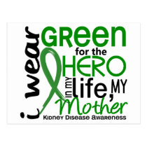 Green For Hero 2 Mother Kidney Disease Postcard