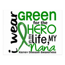 Green For Hero 2 Nana Kidney Disease Postcard